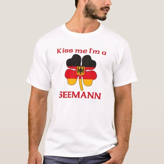 Personalized German Kiss Me I'm Seemann T-Shirt