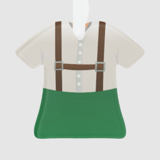 Personalized German Lederhosen Christmas Ornament