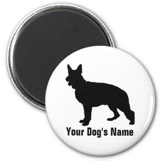 Personalized German Shepherd Dog ジャーマン・シェパード・ドッグ 2 Inch Round Magnet
