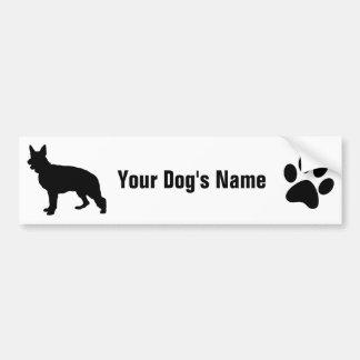 Personalized German Shepherd Dog ジャーマン・シェパード・ドッグ Car Bumper Sticker