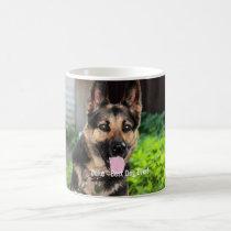 Personalized German Shepherd Dog Photo, Dog Name Coffee Mug