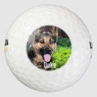 Personalized German Shepherd Dog Photo, Dog Name Golf Balls