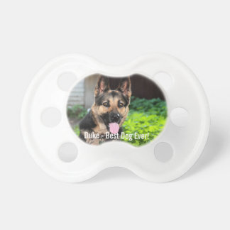 Personalized German Shepherd Dog Photo, Dog Name Pacifier