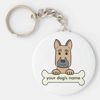 Personalized German Shepherd Key Chain