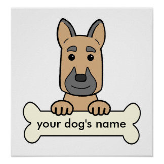 Personalized German Shepherd Poster