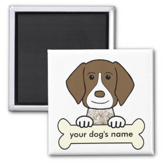 Personalized German Shorthaired Pointer 2 Inch Square Magnet