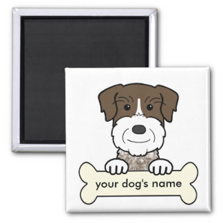 Personalized German Wirehaired Pointer 2 Inch Square Magnet
