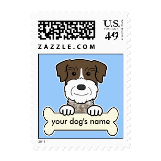 Personalized German Wirehaired Pointer Stamps