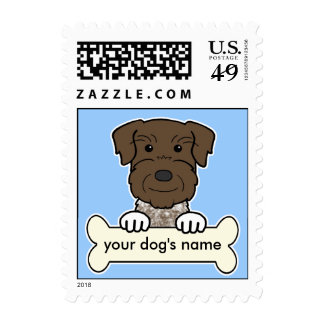 Personalized German Wirehaired Pointer Stamp