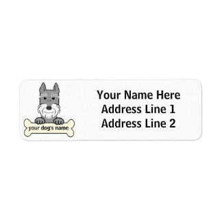 Personalized Giant Schnauzer Label