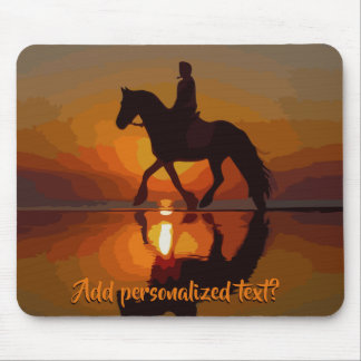Personalized Gift for Horse lover.Horseback Riding Mouse Pad