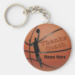 Personalized Gift Ideas for Basketball Coach Basic Round Button Keychain