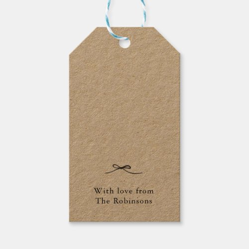 Personalized Gift Tags with Bow