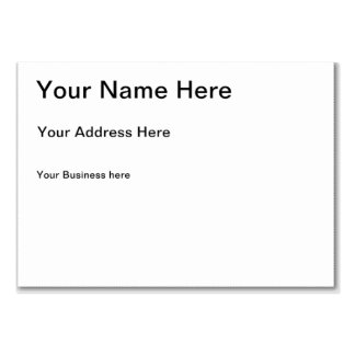 Personalized Gifts Custom Large Business Cards (Pack Of 100)