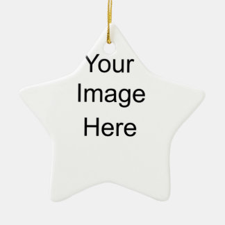 Personalized Gifts Custom Double-Sided Star Ceramic Christmas Ornament
