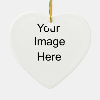 Personalized Gifts Custom Double-Sided Heart Ceramic Christmas Ornament