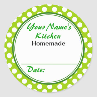 Personalized Gifts for Bakers Your Kitchen Round Classic Round Sticker