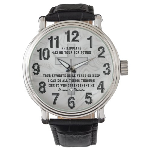 Personalized, Gifts for Christian Men, Scripture Watch