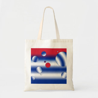 Personalized Gifts for Cubans: Flag Colors of Cuba Budget Tote Bag
