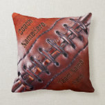 """Personalized Gifts for Football Coaches or Players Throw Pillow<br><div class=""""desc"""">Super Cool Personalized Gifts for Football Coaches or Football Player Gifts. Type in Your TEXT to the Right in the text boxes. The dark printed personalized football pillow TEXT has an almost engraved embossed look. Subtle yet very cool football Christmas gifts, senior night gifts for football and his football themed...</div>"""