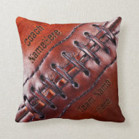 Personalized Gifts for Football Coaches or Players Throw Pillow