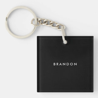 Personalized Gifts For Men Black Square Key Chain
