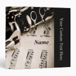 Personalized Gifts for Oboists Clarinetists 3 Ring Binders