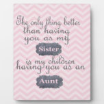 Personalized Gifts for Sister or Aunt Display Plaques