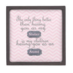 Personalized Gifts for Sister or Aunt Premium Jewelry Box