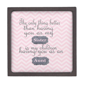 Personalized Gifts for Sister or Aunt Premium Trinket Boxes