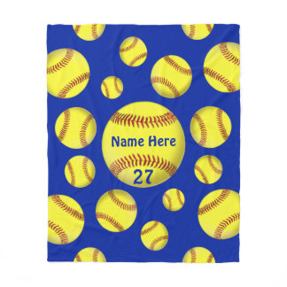 Personalized Gifts for Softball Lovers, Room Decor Fleece Blanket
