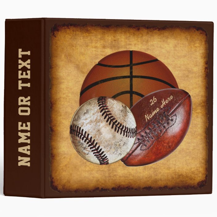 Sports 3-Ring Binder Personalized