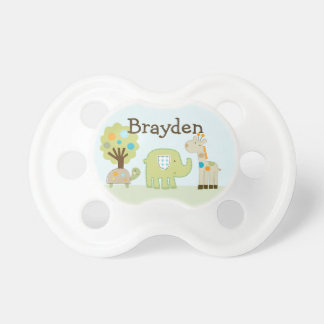 """Personalized """"Giggle Gang Animals"""" Pacifier"""