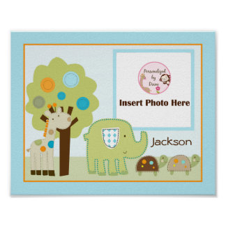 Personalized Giggle Gang Animals Photo Art Poster