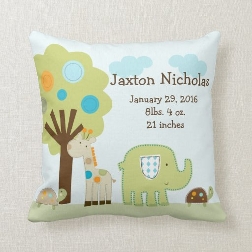 Personalized Giggle Gang Animals Pillow Keepsake