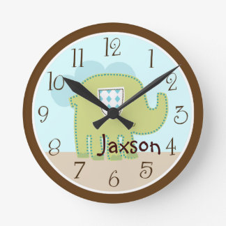 "Personalized ""Giggle Gang Elephant"" Clock"