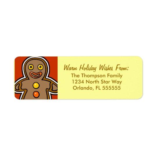 Personalized Gingerbread Man Return Address Labels