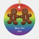 Personalized Gingerbread Men Rainbow Ornament