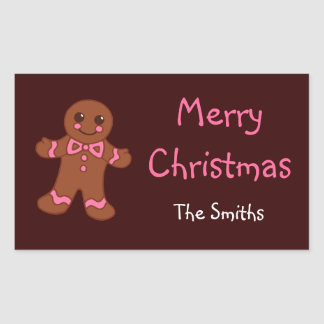 Personalized Gingerbread Stickers