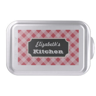 Personalized Gingham Cake Pan