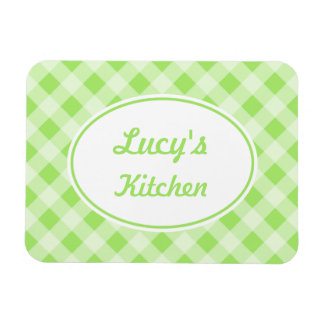 Personalized Gingham Magnet