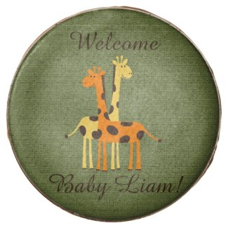 Personalized Giraffe Baby Chocolate Dipped Oreos