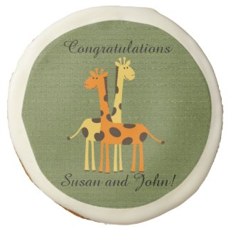 Personalized Giraffe Baby Shower Sugar Cookies