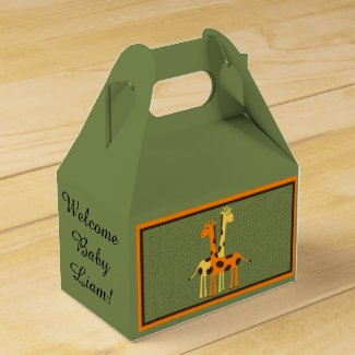 Personalized Giraffe Baby Shower Tent Box