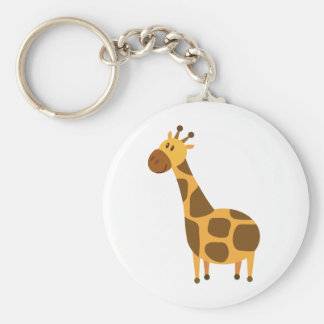 Personalized Giraffe Kids Cartoon Gift Keychain