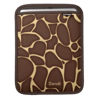 Personalized Giraffe Pattern Custom iPad Sleeve