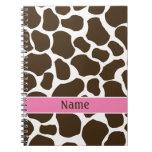 Personalized Giraffe Print Notebook