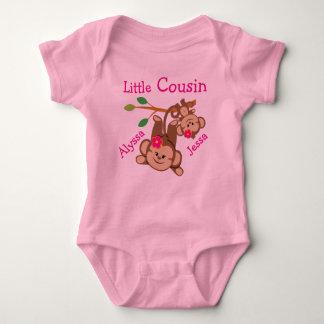 Personalized Girl Monkeys Little Cousin Baby Bodysuit
