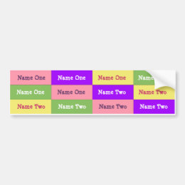 Personalized Girl Name Labels; Waterproof Stickers