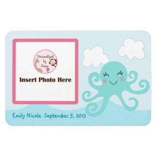 Personalized Girl Octopus Photo Magnet Keepsake